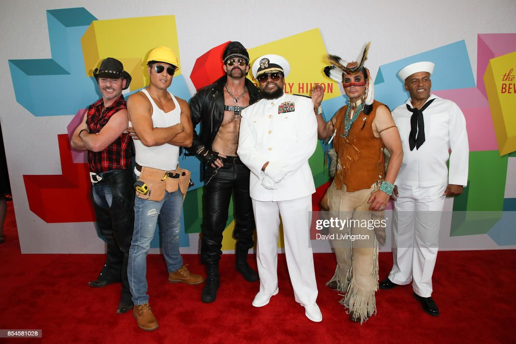 Chad Freeman, James Kwong, J.J. Lippold, Victor Willis, Angel Morales and Sonny Earl of Village People attend the 7th Annual 2017 Streamy Awards at The Beverly Hilton Hotel on September 26, 2017 in Beverly Hills, California.