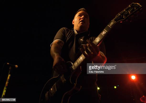 Chad Gilbert of New Found Glory performs at O2 Academy Oxford on September 21 2017 in Oxford England