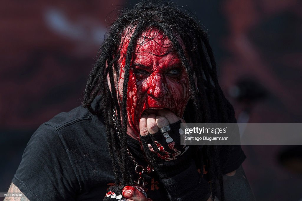 Chad Gray of Hellyeah performs during a show as part of the Maximus Festival at Parque de la Ciudad on September 10, 2016 in Buenos Aires, Argentina.