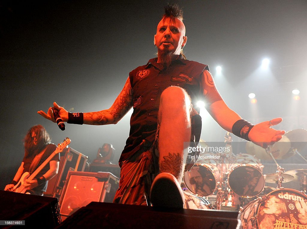 Chad Gray of Hellyeah performs in support of the bands' 'Band of Brothers' release at The Warfield on December 13, 2012 in San Francisco, California.