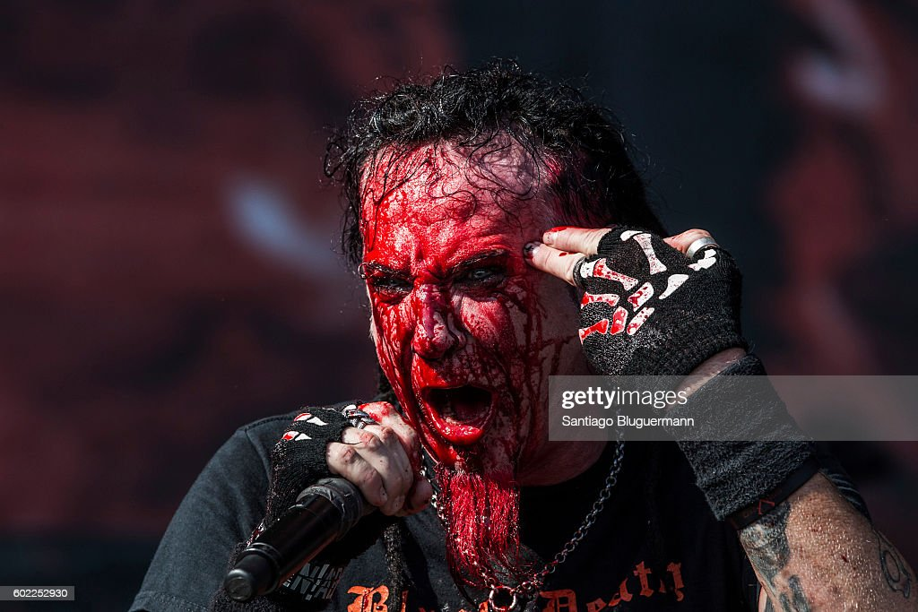 Chad Gray of Hellyeah sings during a show as part of the Maximus Festival at Parque de la Ciudad on September 10, 2016 in Buenos Aires, Argentina.