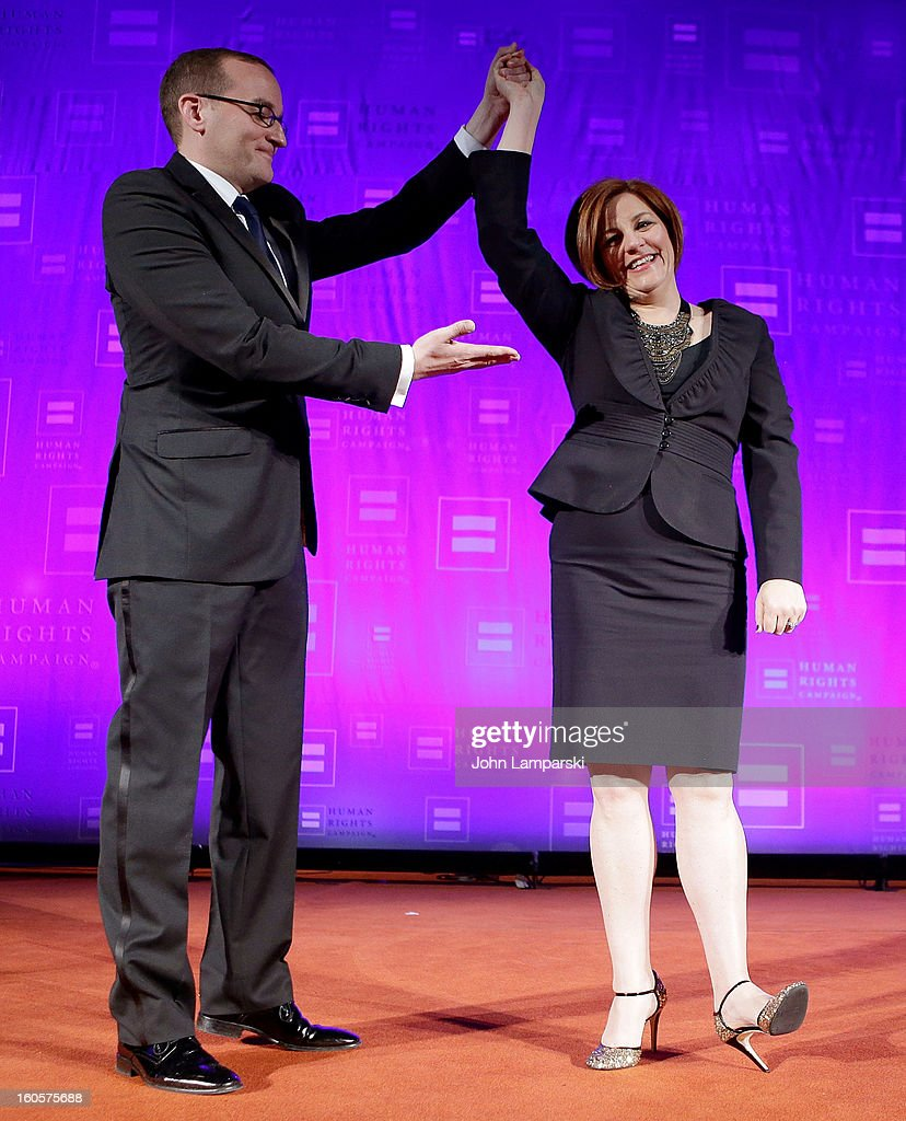 Chad Griffin and New York City Council Speaker Christine Quinn attend The 2013 Greater New York Human Rights Campaign Gala at The Waldorf=Astoria on...