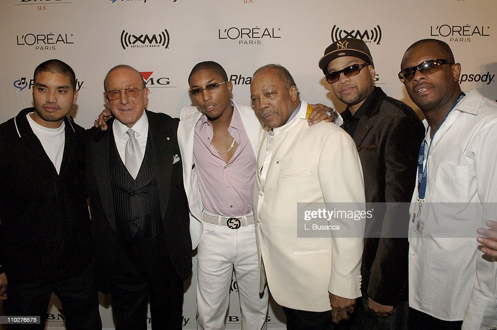 Chad Hugo Clive Davis Pharrell Williams Quincy Jones Kerry Brothers and guest