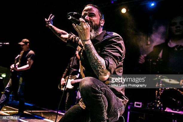 Chad Istvan and Nathan Gray of Boy Sets Fire performs on stage at Solus on April 27 2014 in Cardiff United Kingdom