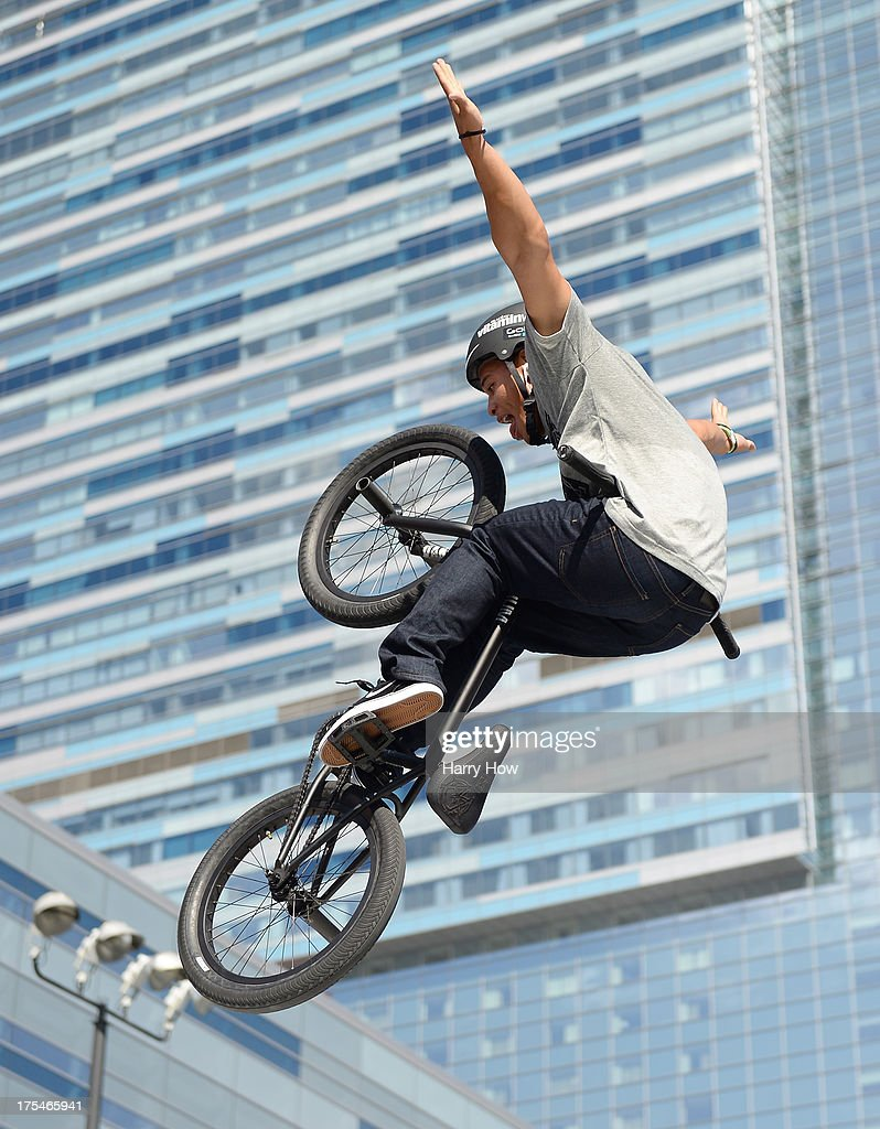 Chad Kerley competes in the BMX Steet Final during X Games Los Angeles at the Event Deck at L. A. Live on August 3, 2013 in Los Angeles, California.