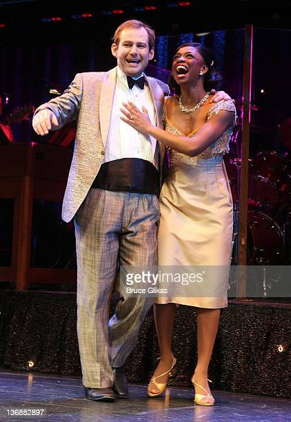 Chad Kimball and Montego Glover of the cast of 'Memphis' perform at a special performance of 'Memphis' for Inspire Change presented by Audemars...