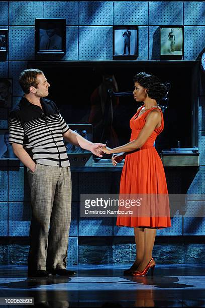 Chad Kimball and Montego Glover perform onstage during the 64th Annual Tony Awards at Radio City Music Hall on June 13 2010 in New York City