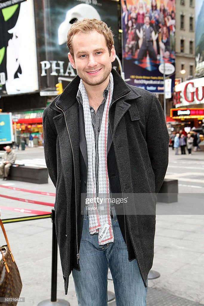 Chad Kimball attends the Stand Up to Cancer Times Square News Year's Eve initiative launch at Duffy Square on November 30, 2010 in New York City.