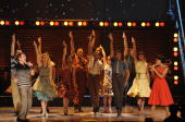 Chad Kimball Montego Glover and the cast of Memphis perform onstage during the 64th Annual Tony Awards at Radio City Music Hall on June 13 2010 in...
