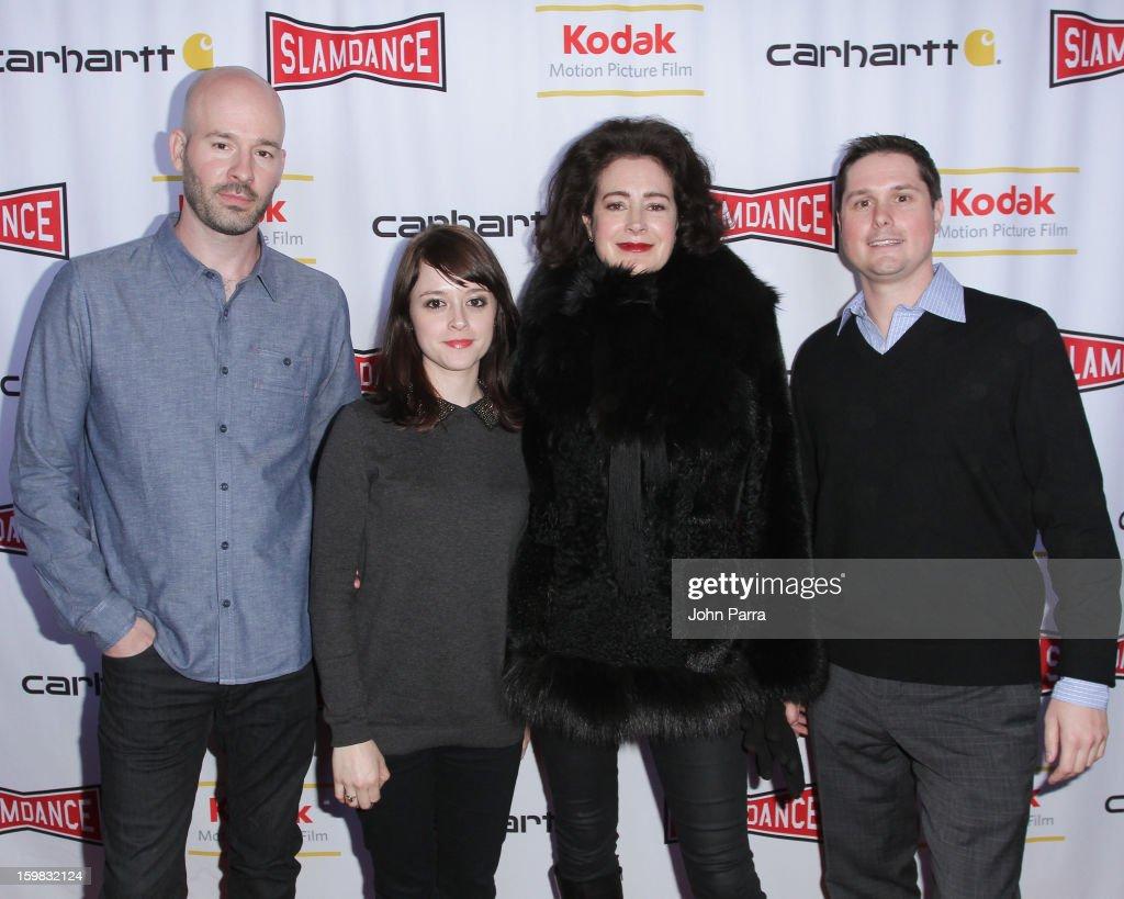 Chad Kinkle, Lauren Ashley Carter, Sean young and Andrew Van Den Houten attend the Slamdance Film Festival at Slamdance Public House on January 20, 2013 in Park City, Utah.