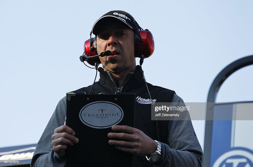 Chad Knaus, crew chief of the #48 Kobalt Tools Chevrolet, during practice for the NASCAR Sprint Cup Series Food City 500 at Bristol Motor Speedway on March 15, 2014 in Bristol, Tennessee.
