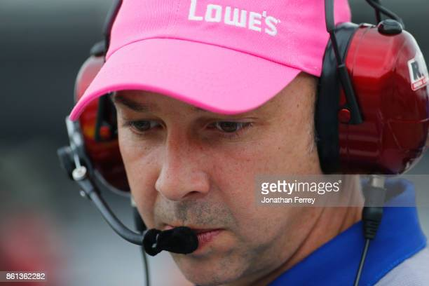 Chad Knaus crew chief of the Lowe's Chevrolet walks on the grid during qualifying for the Monster Energy NASCAR Cup Series Alabama 500 at Talladega...