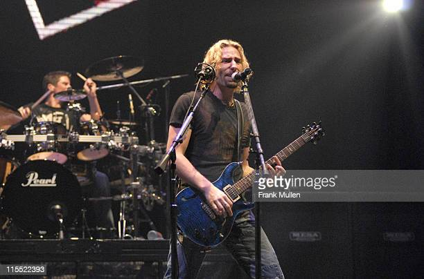 Chad Kroeger of Nickelback during Nickelback in Concert at Gwinnett Center in Duluth March 17 2006 at Arena at Gwinnett Center in Duluth Georgia...