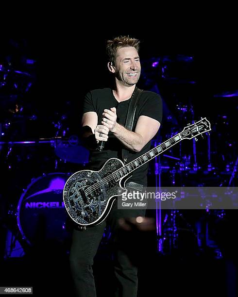 Chad Kroeger of Nickelback performs in concert at the Austin360 Amphitheater on April 4 2015 in Austin Texas