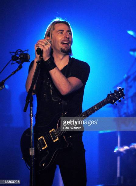 Chad Kroeger of Nickelback performs with the band at the Allstate Arena on March 12 2009 in Rosemont Illinois