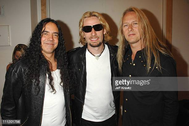 Chad Kroeger of Nickelback with Mike Inez and Jerry Cantrell of Alice in Chains