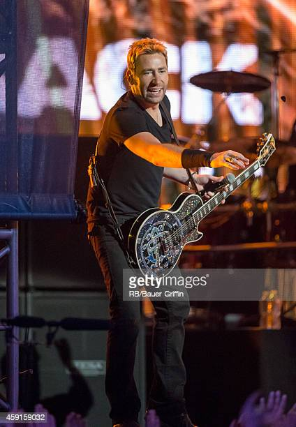 Chad Kroeger of the band 'Nickelback' is seen at 'Jimmy Kimmel Live' on November 17 2014 in Los Angeles California