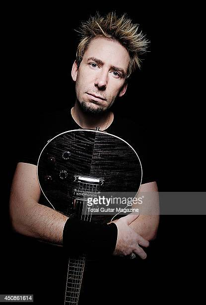 Chad Kroeger vocalist and lead guitarist of Canadian rock band Nickelback photographed during a portrait shoot for Total Guitar Magazine October 7...