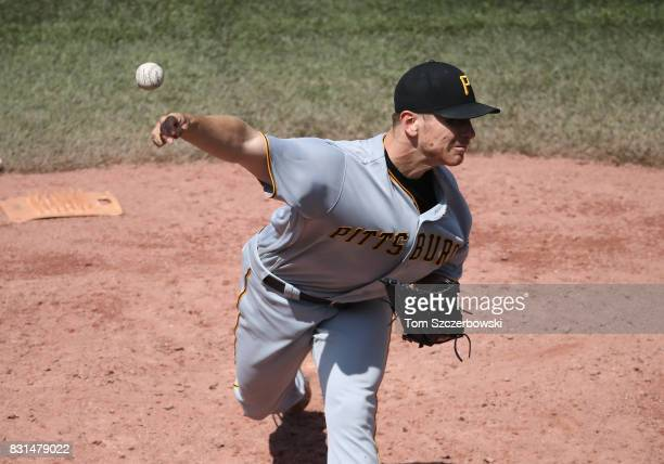 Chad Kuhl of the Pittsburgh Pirates delivers a pitch in the third inning during MLB game action against the Toronto Blue Jays at Rogers Centre on...