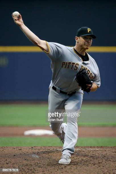 Chad Kuhl of the Pittsburgh Pirates pitches in the fourth inning against the Milwaukee Brewers at Miller Park on June 20 2017 in Milwaukee Wisconsin