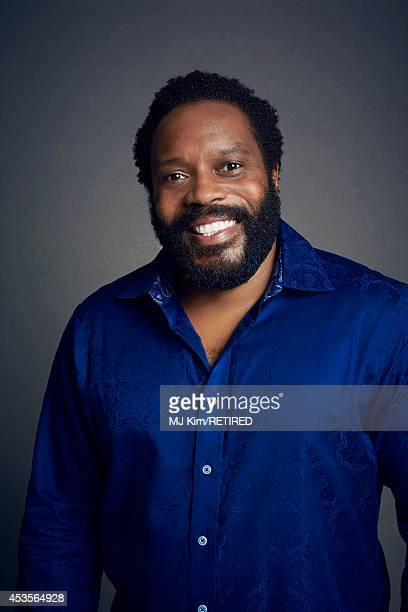 Chad L Coleman poses for a portrait at the Getty Images Portrait Studio powered by Samsung Galaxy at ComicCon International 2014 on July 24 2014 in...