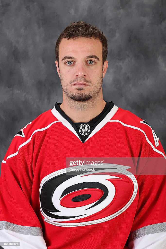 <a gi-track='captionPersonalityLinkClicked' href=/galleries/search?phrase=Chad+LaRose&family=editorial&specificpeople=546026 ng-click='$event.stopPropagation()'>Chad LaRose</a> #59 of the Carolina Hurricanes poses for his official headshot for the 2010-2011 NHL season at the RBC Center on September 18, 2010 in Raleigh, North Carolina.