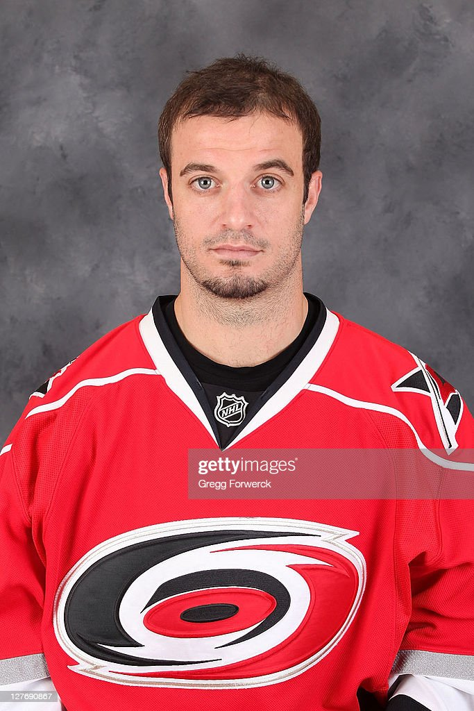 <a gi-track='captionPersonalityLinkClicked' href=/galleries/search?phrase=Chad+LaRose&family=editorial&specificpeople=546026 ng-click='$event.stopPropagation()'>Chad LaRose</a> of the Carolina Hurricanes poses for his official headshot for the 2011-2012 season on September 16, 2011 in Raleigh, North Carolina.