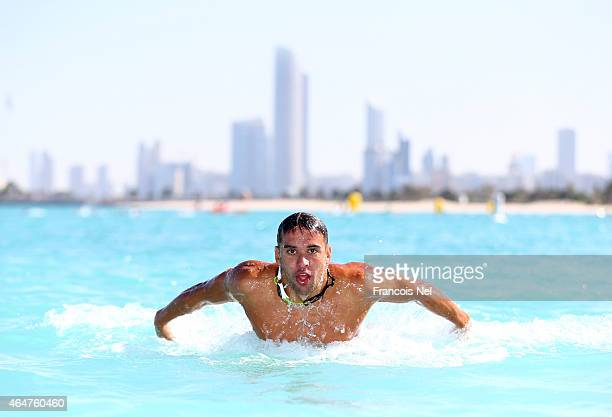 Chad le Clos FINA Male Swimmer of the Year 2014 in action during the Abu Dhabi Swimming Festival by Daman's ActiveLife at Emirates Palace Hotel on...