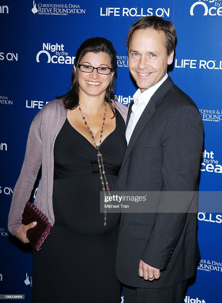 <a gi-track='captionPersonalityLinkClicked' href=/galleries/search?phrase=Chad+Lowe&family=editorial&specificpeople=212778 ng-click='$event.stopPropagation()'>Chad Lowe</a> (R) and Kim Painter arrive at The Life Rolls On Foundation's 9th Annual Night By The Ocean held at The Ritz-Carlton on November 10, 2012 in Marina del Rey, California.