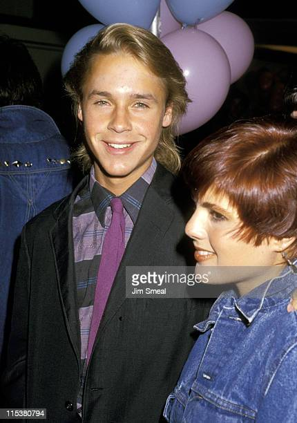 Chad Lowe And Renee Props during Chad Lowe And Renee Props at Ed DeBevic's Restaurant April 29 1987 at Ed DeBevic's Restaurant California United...