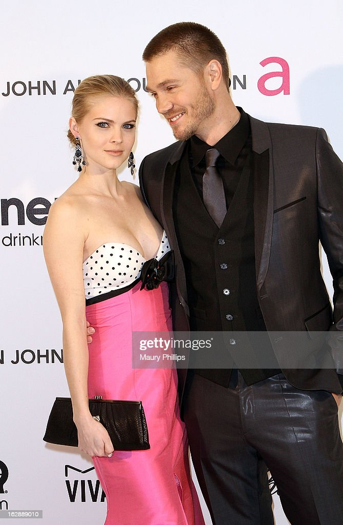 Chad Michael Murray (R) and Kenzie Dalton arrive at the 21st Annual Elton John AIDS Foundation Academy Awards Viewing Party at Pacific Design Center on February 24, 2013 in West Hollywood, California.