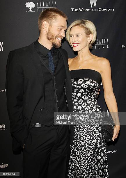 Chad Michael Murray and Nicky Whelan arrive at The Weinstein Company and NetFlix 2014 Golden Globe Awards after party held on January 12 2014 in...
