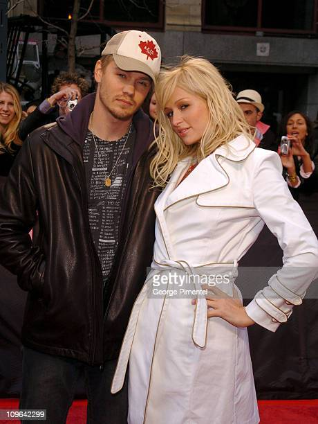 Chad Michael Murray and Paris Hilton during The Cast of 'House of Wax' Visits MuchMusic Studios Arrivals May 3 2005 at CHUM TV Building in Toronto...