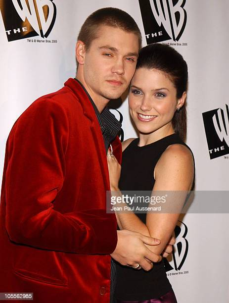 Chad Michael Murray and Sophia Bush during The WB Television Network's 2005 All Star Party Arrivals at Warner Bros Studio in Burbank California...