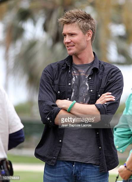 Chad Michael Murray is seen on location for 'Lies in Plain Sight' on July 1 2010 in Los Angeles California