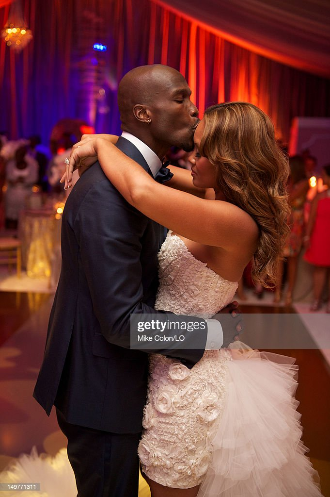 Chad Ochocinco and <a gi-track='captionPersonalityLinkClicked' href=/galleries/search?phrase=Evelyn+Lozada&family=editorial&specificpeople=6747068 ng-click='$event.stopPropagation()'>Evelyn Lozada</a> marry at Le Chateau des Palmiers on July 4, 2012 in St. Maarten, Netherlands Antillies.