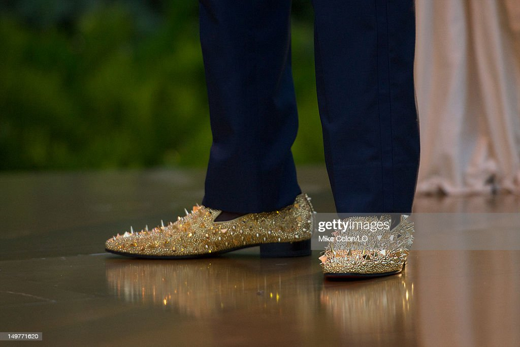 Chad Ochocinco (shoe detail) during his wedding to Evelyn Lozada at Le Chateau des Palmiers on July 4, 2012 in St. Maarten, Netherlands Antillies.