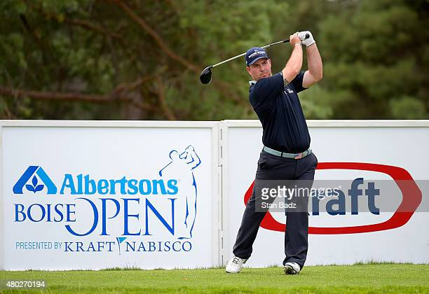 Chad Pfeifer who lost a leg in a wartime accident in 2007 received a sponsor exemption hits a drive on the ninth hole during the second round of the...