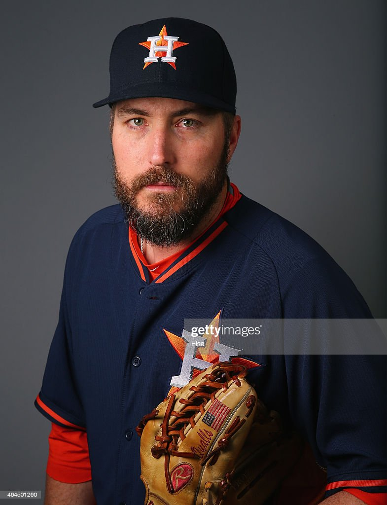 <a gi-track='captionPersonalityLinkClicked' href=/galleries/search?phrase=Chad+Qualls&family=editorial&specificpeople=588432 ng-click='$event.stopPropagation()'>Chad Qualls</a> #50 of the Houston Astros poses for a portrait on February 26, 2015 at Osceola County Stadium in Kissimmee, Florida.