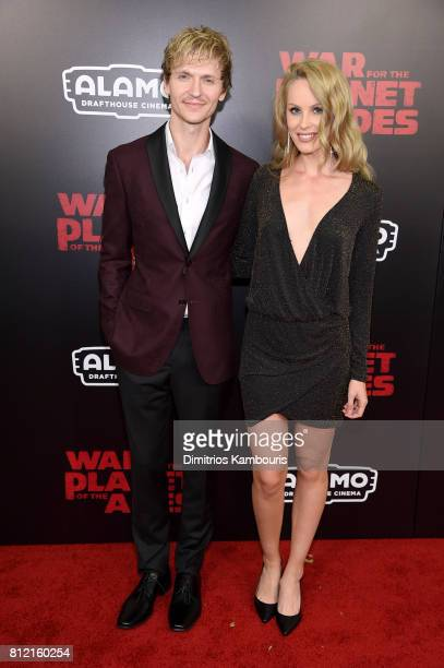 Chad Rook and guest attend the 'War For The Planet Of The Apes' New York Premiere at SVA Theater on July 10 2017 in New York City