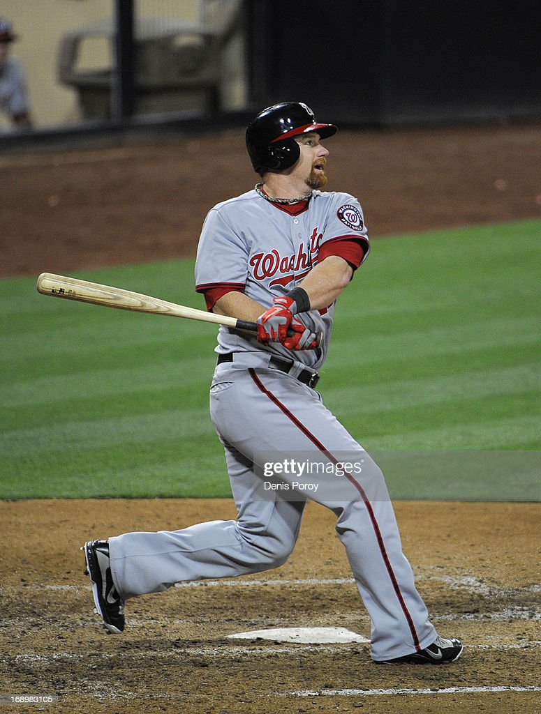 Chad Tracy 18 Of The Washington Nationals Hits A Game Winning Solo Home Run In