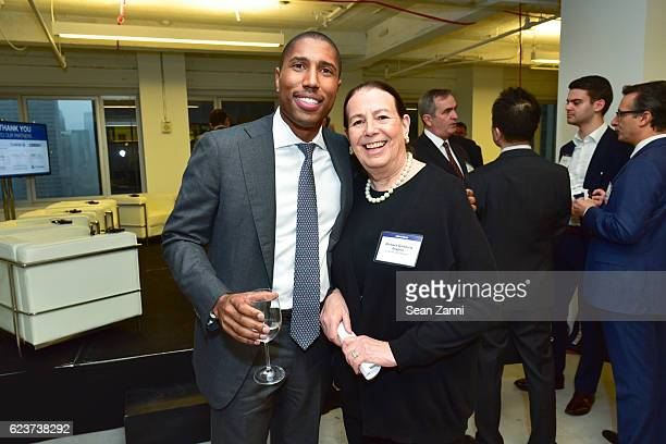 Chad Tredway and Barbara Ginsburg Shapiro attend The Commercial Observer Financing Commercial Real Estate at 666 Fifth Avenue on November 15 2016 in...