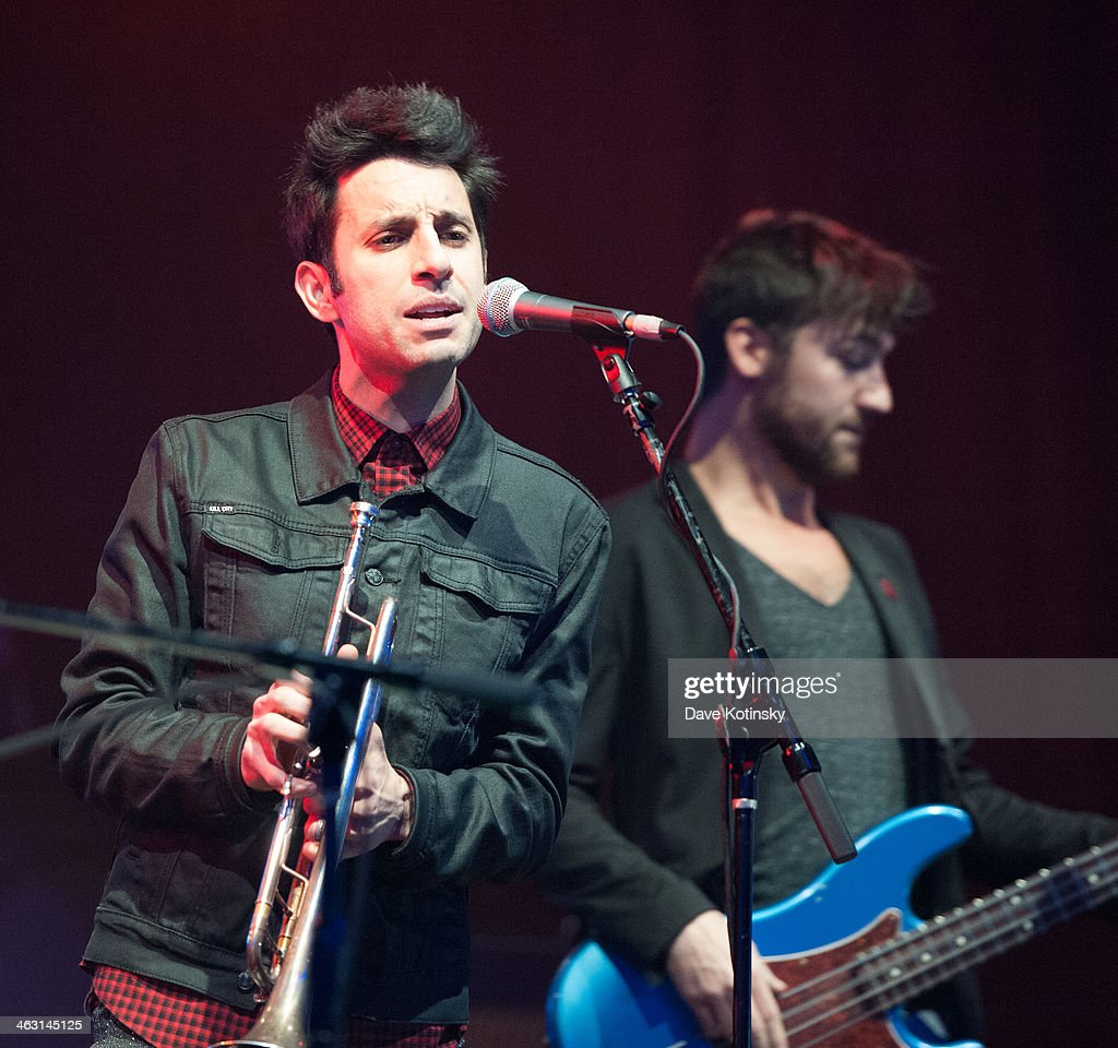 Chad Vaccarin of A Great Big World performs at Highline Ballroom on January 16, 2014 in New York City.