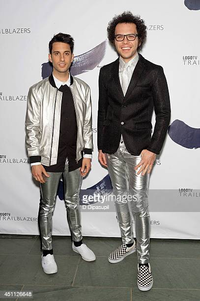 Chad Vaccarino and Ian Axel of A Great Big World attend LOGO TV's 1st Annual Trailblazers event at the Cathedral of St John the Divine on June 23...
