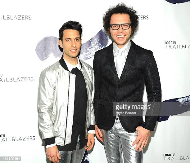 Chad Vaccarino and Ian Axel of A Great Big World attend Logo TV's 'Trailblazers' at the Cathedral of St John the Divine on June 23 2014 in New York...