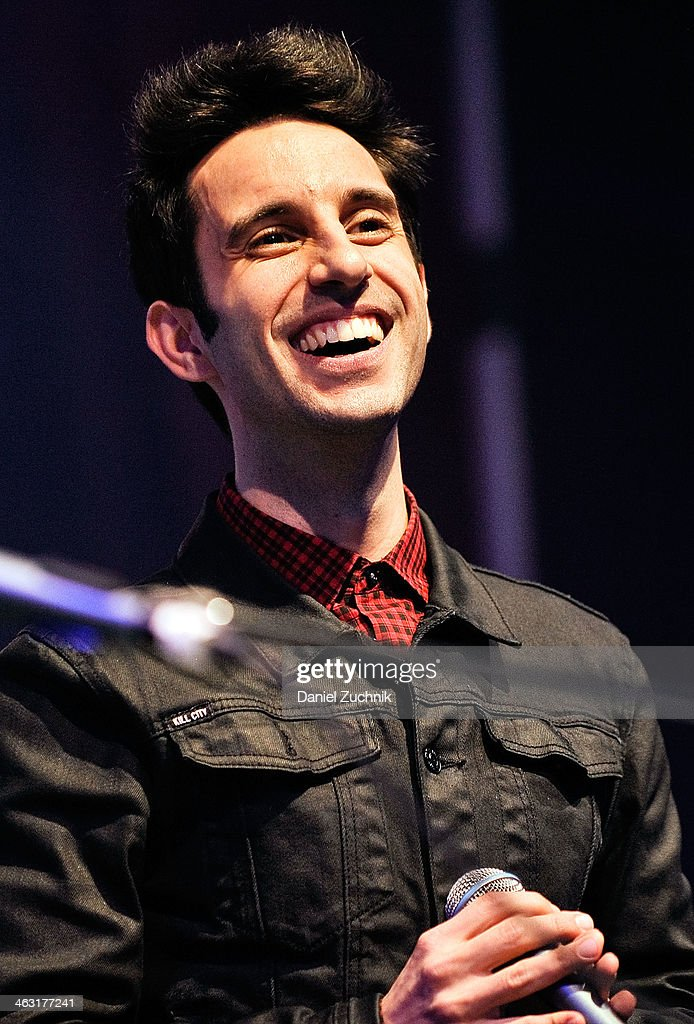 Chad Vaccarino of A Great Big World performs at Highline Ballroom on January 16, 2014 in New York City.
