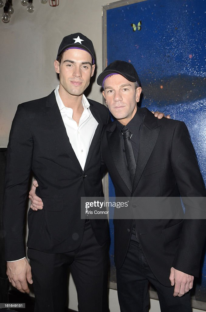 Chad White and Josh Reed pose for a photo during the Gents Launch Party during Fall 2013 Mercedes-Benz Fashion Week at Gramercy Park Hotel on February 13, 2013 in New York City.