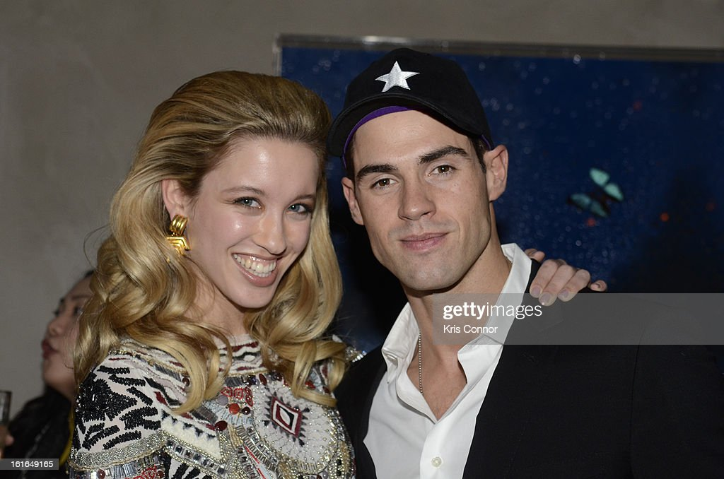 Chad White and Melissa Bolona pose for a photo during the Gents Launch Party during Fall 2013 Mercedes-Benz Fashion Week at Gramercy Park Hotel on February 13, 2013 in New York City.