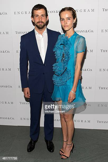 Chadd Konig and actress Isabel Lucas attend the 'Engram' screening at the Celeste Bartos Theater at the Museum of Modern Art on March 31 2014 in New...