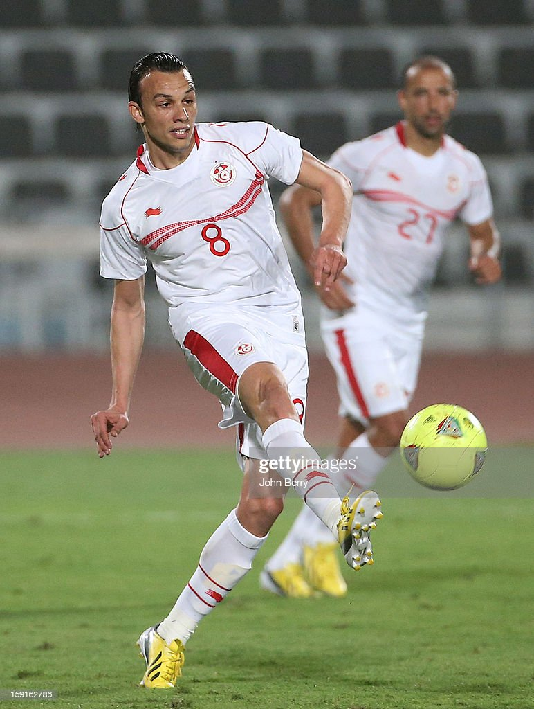 Chadi Hammami of Tunisia in action during the international friendly game between Tunisia and Ethiopia at the Al Wakrah Stadium on January 7, 2013 in Doha, Qatar.